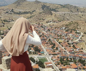 hijab, view, and hijabgirl image