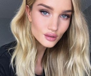 beauty, rosie huntington whiteley, and hair image