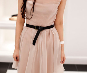 dress, pink, and belt image