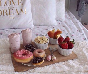 donuts, food, and fruit image