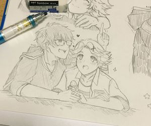 seven, yoosung, and mystic messenger image