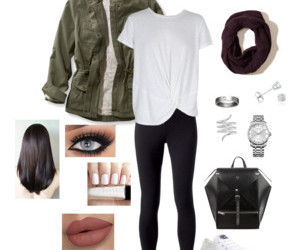 autumn, casual, and clothing image