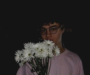 flowers, glasses, and cute image
