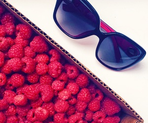 berries, food, and pink image