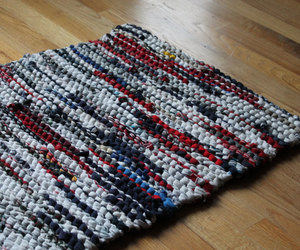 americana, red white and blue, and rug image
