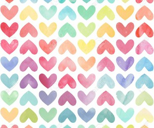 beauty, heart, and pattern image