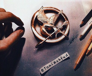 drawing, the hunger games, and toni mahfud image