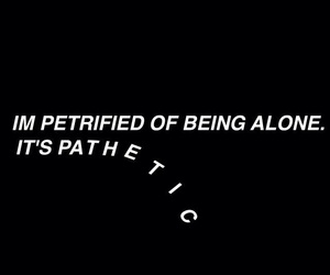 sad, alone, and Lyrics image