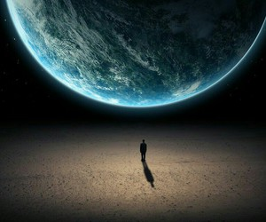 earth, alone, and world image
