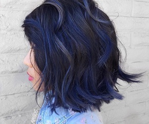 blue hair, hairstyle, and short hair image