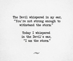 quotes, Devil, and storm image