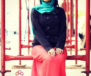 boots, hijab, and hijab fashion look image