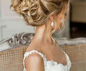 bride, fashion, and white image