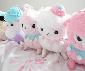 kawaii, pink, and plush image