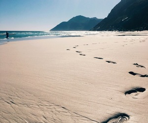 beach, mountains, and Sunny image