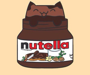 cat, nutella, and cute image