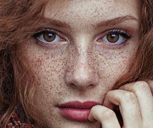 freckles, beauty, and eyes image