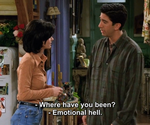 emotional, monica geller, and quote image