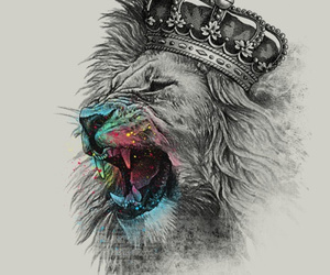 king and lion image