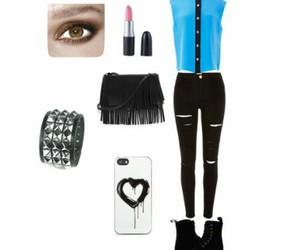bijous, black, and clothes image