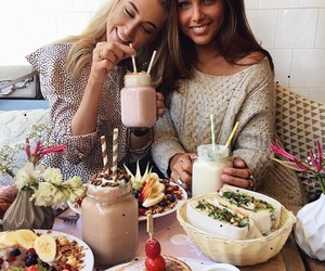 friends, food, and fashion image