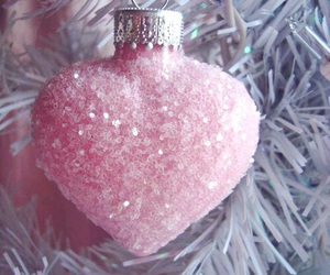 christmas, pink, and heart image