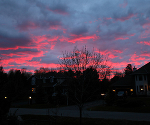 sky, pink, and sunset image