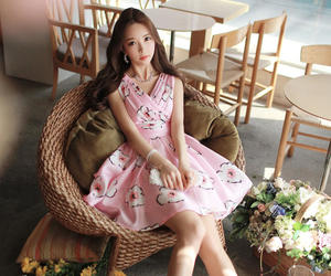 asian, ulzzang, and floral dress image