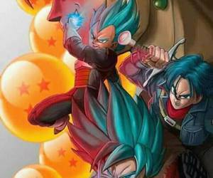 dragonball, trunks, and goku image