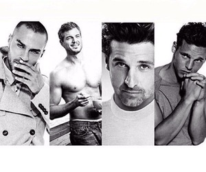 grey's anatomy, black and white, and mark sloan image