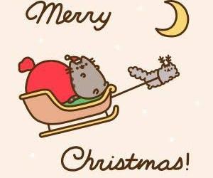 pusheen, cat, and christmas image