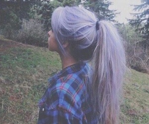hair, purple, and grunge image