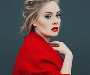 Adele, red, and singer image