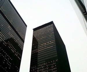 black, buildings, and chic image