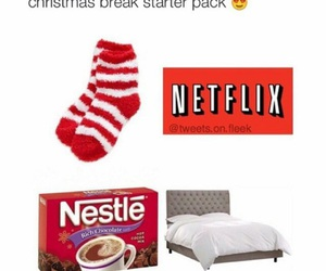 netflix, christmas, and bed image