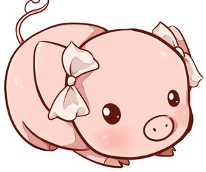 kawaii, pig, and cute image