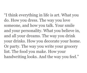quote, art, and life image