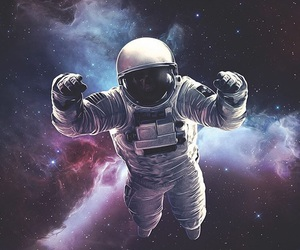 galaxy, space, and spaceman image