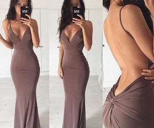 backless dress, party dress, and prom dress image