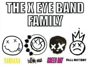 nirvana, fall out boy, and green day image
