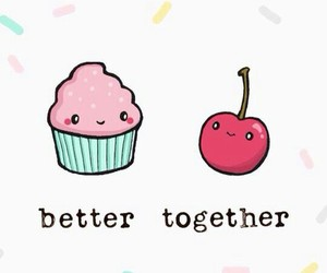 wallpaper, better together, and cupcake image