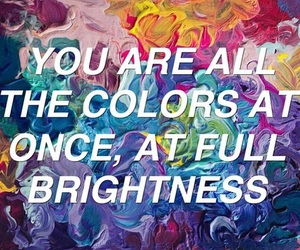 quotes, colors, and all the bright places image