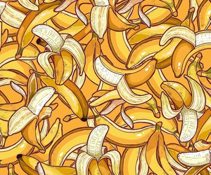 background, fruit, and banana image