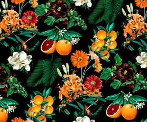 fruit, flowers, and orange image