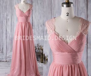 long bridesmaid dress and rose pink vintage dresses image
