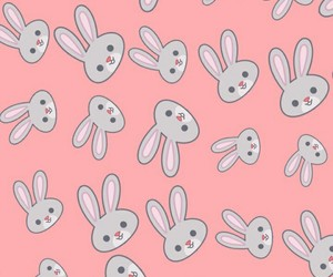 bunny, pink, and wallpaper image