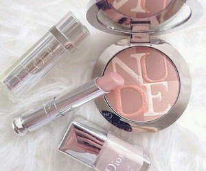 makeup, dior, and lipstick image