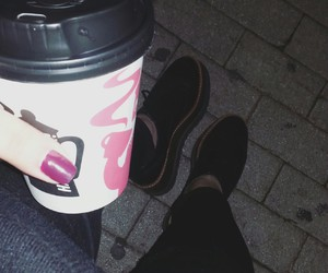 coffee, jeans, and night image