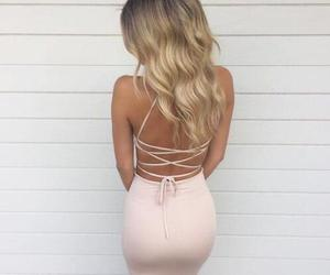 dress, fashion, and hair image