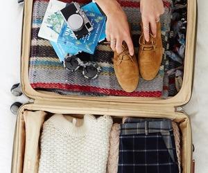 travel, luggage, and suitcase image